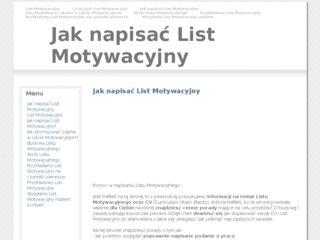 List Motywacyjny Katalog Stron Internetowych